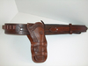 Ranger Style Cartridge Belt with a Single Mexican Double Loop Holster