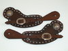 Buckaroo Spur Strap With Crucifix Concho