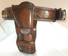 Ranger Style Cartridge Belt with Double Loop Holster & Matching Concho.s